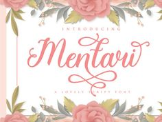 Mentari is a modern script font that will raise every craft idea to the highest level. Mentari comes with lots of swash, which will allow you to add decorative touches in seconds. This font is PUA encoded which means you can access all the magic glyphs and swash easily! It also has many special features including alternative flying machines and ligature. Modern Script Font, Script Fonts, Pua, Cool Fonts, Icon Font, Glyphs, Design Projects, Alternative