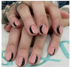Half moon nails  | Check out http://www.nailsinspiration.com for more inspiration!