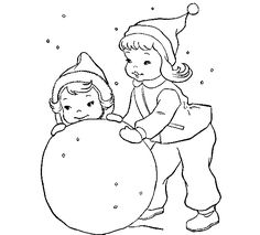 Children enjoying the Christmas holidays, are playing in