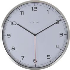"""The NeXtime """"Company Arabic"""" wall clock is a silent wall clock in a modern and professional style. This analog clock made of glass with an. Atomic Time, Miller Homes, Wall Clock Online, Daylight Savings Time, Wooden Clock, Office Walls, Clear Glass, Decorative Pillows, Design"""