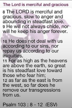 Psalm: 103 8-12