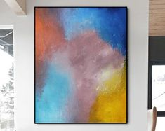 Original Large Abstract paintings By Professionals by WallAbstract Large Artwork, Original Artwork, Abstract Paintings, Abstract Art, Beautiful Homes, Etsy Seller, The Originals, Canvas, Handmade Gifts