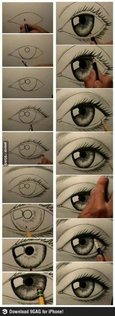 How to draw a realistic eye by ksrose
