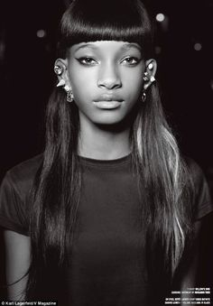 Rogue Culture --- Willow Smith posa para as lentes de Karl Lagerfeld…