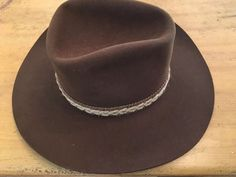 edeff7a82e7f3 Details about Vintage Resistol Self Conforming Western Cowboy Hat 6 7 8  TEXAS 7X Small