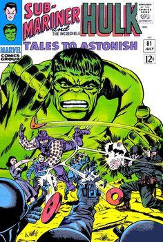 Tales to Astonish 81 Sub-Mariner Hulk silver age marvel comics group Hulk Marvel, Marvel Comics Superheroes, Hulk Comic, Avengers, Marvel Heroes, Hulk 4, Dc Comics, Anime Comics, Rare Comic Books
