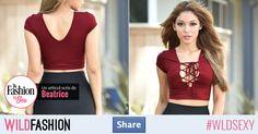 Share dacă îți place culoarea intensă și decolteul îndrăzneț! Crop Tops, Women, Fashion, Moda, Women's, Fashion Styles, Woman, Fasion, Cropped Tops