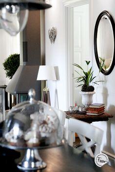 Fasonblog: kitchen / hallway  #wicker #artwood #newengland #classic #interior #inredning
