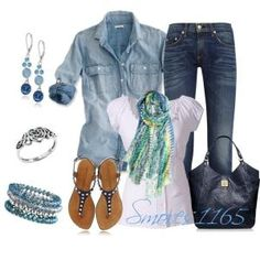 """Spring Denim Styles"" by smores1165 on Polyvore by jayrraemomma2012"