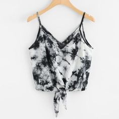 Women Sexy V-Neck Strap Camis Vest Crop Top Fashion Summer Leisure Sleeveless Beach Bowknot Print Blousa Shirt Tank Tops Clothes Tie Dye Outfits, Crop Top Outfits, Cute Casual Outfits, Summer Outfits, Tie Dye Clothes, Clothes Refashion, Fashionable Outfits, Summer Shorts, Diy Clothes