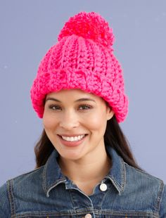 Lion Brand Yarn is America's oldest craft yarn company with active yarn families. Find your next project by searching free knitting and crochet patterns for afghans, hats, scarves and much more. Crochet Winter Hats, Crochet Hat For Women, Crochet Beanie Hat, Knitted Hats, Crochet Lion, Crochet Cap, Crochet Poncho, Free Crochet, Beginner Crochet