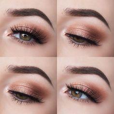 Soft Rust Eye Makeup
