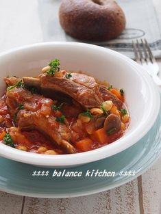 炊飯器で超手間なし。豚スペアリブと大豆のトマト煮込み by 河埜 玲子…