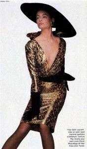 - Yves Saint Laurent Couture suit- photo by Walter Chin Fashion Themes, 80s Fashion, Couture Fashion, Runway Fashion, High Fashion, Vintage Fashion, Fashion Looks, Fasion, Patti Hansen