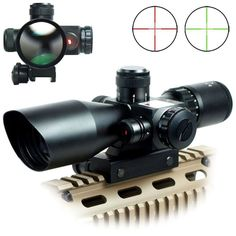 2.5-10 x 40 ER Optics Red/Green Laser Riflescope with Red Dot Scope Combo