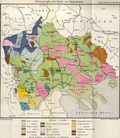 Ethnographic map of Macedonia, 1892.
