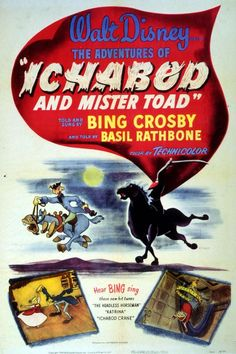 Poster Original de As aventuras e Ichabod e Sr Sapo (1949)