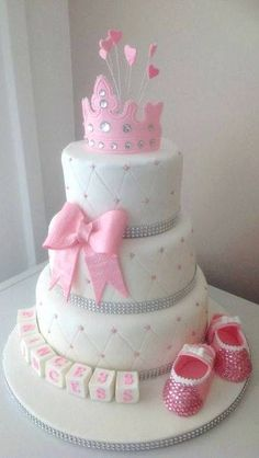 Find This Pin And More On Cake Design By Lilianacarloss. Pretty In Pink Princess  Baby Shower Cake