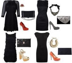 black dresses accessories | how much do you like this LBD look>