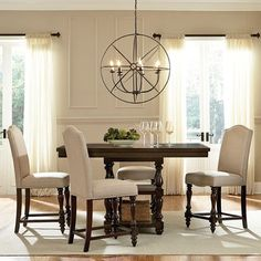 American Drew Camdenlight Bar Height Ped Table  White Paints Enchanting Standard Dining Room Chair Height Design Inspiration