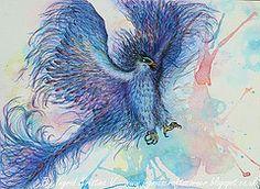 Phoenix - abstract/mixed media art by Ingrid Kristina V http://ingridscraftscorner.blogspot.co.uk/2014/02/phoenix-abstractmixed-media-art.html