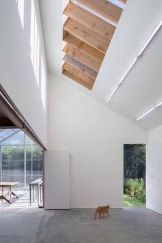 Davidson Rafailidis tops studios for artist and ceramicist with three angular roofs