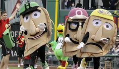 The Pirates' pierogies travel once a year to take on the Milwaukee Brewers' racing sausages — their inspiration.