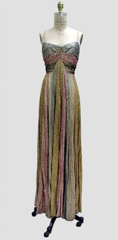 glittery Madeleine Vionnet/Hattie Carnegie gown ca. 1937 via The Costume Institute of The Metropolitan Museum of Art