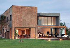 casa moderna de tijolo aparente