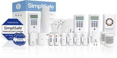 "SimpliSafe Home Security System - picture of  ""ultimate package"" No monthly dues - no contracts."