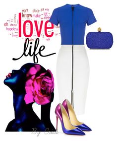 """""""Love& Life"""" by crisa-gloria-eduardo ❤ liked on Polyvore featuring Lisa Marie Fernandez, River Island, Christian Louboutin and Alexander McQueen"""
