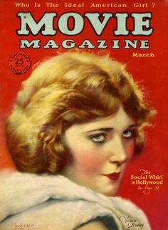 Vilma Banky on the cover of Movie Magazine