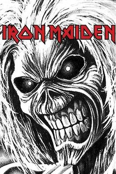 Iron Maiden Killers Allover T-ShirtEmp. Heavy Metal Art, Heavy Metal Bands, Skull Artwork, Metal Artwork, Rock Posters, Band Posters, Hard Rock, Iron Maiden Posters, Metal Drawing