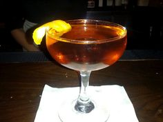 Dominicano, which is made with Citadelle gin and both Dolin Blanc and Rouge vermouths, Aperol and orange bitters