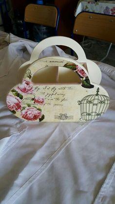 Dekoratif kutu ahşap boyama Cutlery Holder, Decoupage Vintage, Shabby, Reusable Tote Bags, Hand Painted, Luxury, Wood, Serving Trays, Crafts