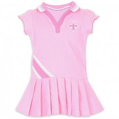 New Orleans Saints Toddler Polo Dress With Pleats