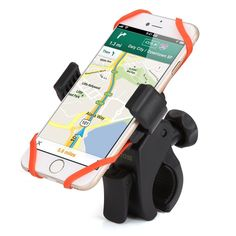 Smartphone Bike Mount, ikross Universal Rubber Strap Bike Bicycle Rack Handlebar Mount Holder Cradle with 360 Degrees Rotatable For iPhone 6 Plus SE Galaxy Edge, Note 5 LG and Best Amazon Deals, Bicycle Rack, Bike Mount, Phone Mount, Lg G5, Gps Navigation, Note 5, Cycling Bikes, Phone Holder