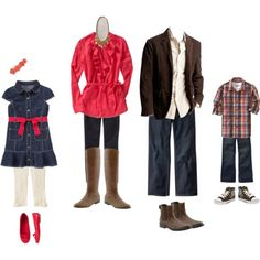 Fall family style, great for family Christmas pictures