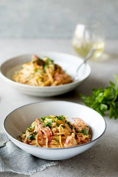 Yummy Pasta Recipes, Yummy Food, Confort Food, Lobster Recipes, Pasta Noodles, Fish And Seafood, Kitchen Recipes, Pasta Dishes, Bon Appetit