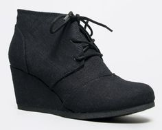 Qupid Women's Lace Up Faux Suede Ankle Wedge Booties,6.5 B(M) US,Black Linen-rex Nature Breeze http://www.amazon.com/dp/B00IN8AXYO/ref=cm_sw_r_pi_dp_fUZPtb055TDY6ZN4