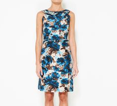 Kate Spade New York Blue And Brown Dress