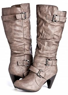 Ashley Stewart: Knee High Multi-Buckle Boot (Wide Width/Calf)