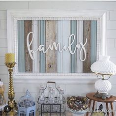We are creating new signs this week and we want your input! If you were to buy a sign what colors would you want in it? . . #reclaimed #family #startathome #mystylewednesday #diy #etsy #etsyshop #estyseller #typography #milkglass #vintage #vignette