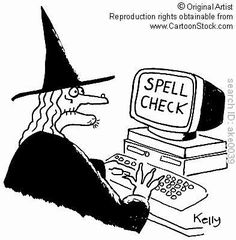 Computer Witch ~ Spell Check #witches #humor