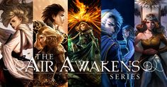 I highly recommend this addicting series with a great worldbuilding,  complex and realistic characters, epic romance and adventure! If you're interested, here's the link to all the books: http://elisekova.com/the-air-awakens-series/