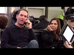 """Cell phone crashing at the airport by Greg Benson. Don't you hate when people talk loudly on their phones in public? Why not have some fun with it and """"crash"""" their calls! - And let's stop talking loudly on the phone in public :) Funny Pranks, Funny Memes, Hilarious, Jokes, Phone Pranks, Prank Videos, Funny Videos, People Talk, Humor"""