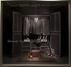 Menswear Window Display 2014, Visual Merchandising Arts. The School of Fashion at Seneca College.