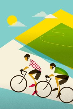thecyclinglife: Tour de France Poster: Le Tour: Alpe D'Huez By: Eleanor Grosch