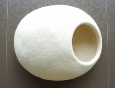 Eco friendly cat bed/cat cave/cat house/felted cat cave by elevele, $67.00