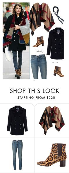 """""""Alexa Chung WInter Style"""" by uncharged-batteries ❤ liked on Polyvore featuring Saint James, Burberry, Frame Denim, Pierre Hardy and Free People"""